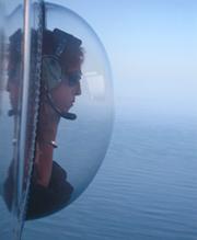 Marine mammal observer Amelia Brower