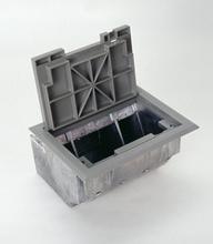 AF SeriesTM AF1 Three Gang Raised Floor Box with Black Carpet Style Lid