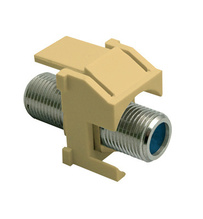 Recessed Nickel Self-Terminating F-Connector, Ivory