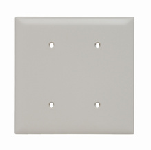 Blank Plates -- Strap Mounted, Two Gang, Light Almond