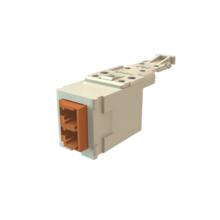 Infinium HD Fiber Module, Keyed Front Keyed Rear LC Duplex (2 Fibers), HDJ Insert, Brown Adapter Fog White for  Workstation
