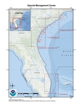 This is a map of the special management zones for the snapper-grouper fishery in the South Atlantic Region.