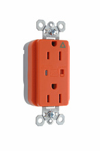 PlugTail® Isolated Ground Surge Protective Duplex Receptacle, Orange