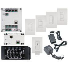 Digital Audio Four-Room, Multi-Source Kit, White