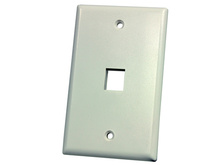 SINGLE GANG PLASTIC RESI FACEPLATE, TWO KEYSTONE JACK OR MODULE