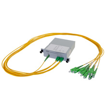 M4 1X8 POL SPLITTER- SC/APC CONNECTORS- 1M PIGTAILS