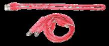 Banana Plug Cord-Red (5 Pack)
