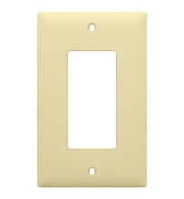 1-Gang Decorator Wall Plate, Light Almond
