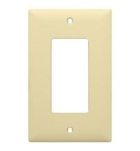 1-Gang Decorator Wall Plate, Light Almond