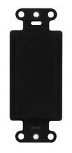 Blank Decorator Outlet Strap, Black