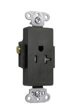 Tamper-Resistant Heavy-Duty Decorator Spec Grade Single Receptacle, Back & Side Wire, 20A, 125V, Black