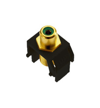 Green RCA to F-Connector, Black