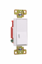 Illuminated Decorator Switch, White