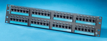 Clarity 6 48-port Category 6 patch panel -  six-port modules -  19 in x 3.5 in