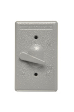 Cast Weatherproof Toggle Switch Cover with Actuating Lever, Gray