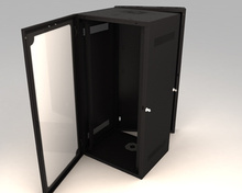 DataCab Wall-Mount Cabinets -  26U -  Solid door -  Black