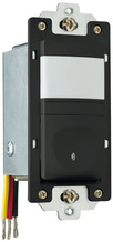 120V Incandescent Single Pole Vacancy Sensor, Manual Operation, Black
