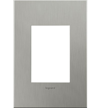 adorne® Brushed Stainless Steel One-Gang-Plus Screwless Wall Plate