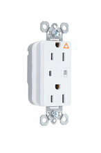 PlugTail® Isolated Ground Surge Protective Duplex Receptacle, White