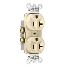 Hard-Use Spec Grade Plug Load Controllable Receptacle, 20A, 125V, Ivory