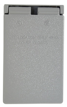 Cast Weatherproof Cover Power Outlet Vertical, Gray