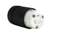 20 Amp NEMA Connector L1120, Black Back, White Front Body