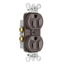 Hard-Use Spec Grade Plug Load Controllable Receptacle, 15A, 125V, Brown