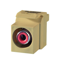 Keystone RCA to RCA (Red Insulator), Ivory