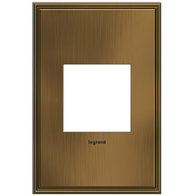 adorne® Coffee One-Gang Screwless Wall Plate