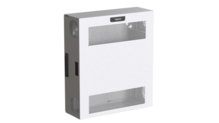 Compact Edge Cabinet, 4 RU, Perforated Door - White