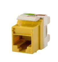 Category 6 Keystone jack, Yellow