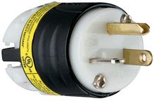 20A, 125V EHU GCM Plug, Black & White