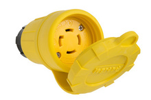 29W75 Watertight NEMA 4X/6P Locking Connector,Yellow
