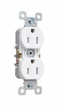 15A/125V TradeMaster® Self-Grounding, Tamper-Resistant Duplex Receptacle, White