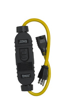 Portable In-Line 15A GFCI Outlet Adapter, Auto Reset