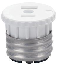15A/125V, 660W Medium Base Lampholder-to-Outlet Adapter