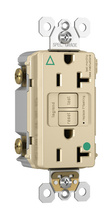 Hospital-Grade Isolated Ground Tamper-Resistant 20A Self-Test Duplex GFCI, Ivory