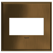 adorne® Coffee Two-Gang Screwless Wall Plate