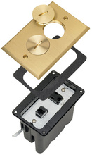 Floor Box Assemblies - One Gang for Wood and Sub-Floors