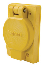 65W34 Turnlok Watertight Single Receptacle, Yellow
