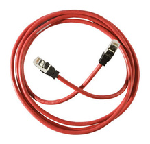Clarity 6 Shielded Modular Patch Cord, 3', red