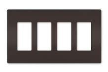radiant® Four-Gang Screwless Wall Plate