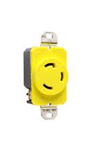 30 Amp NEMA L530 - Single Receptacle, Yellow, Corrosion-Resistant
