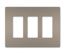 radiant® Three-Gang Screwless Wall Plate