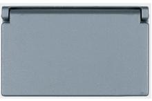 One Gang Heavy Cast Aluminum Cover Decorator/GFCI Horizontal, Gray
