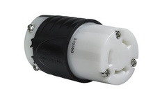 30 Amp NEMA L1230 Connector - Black Back, White Front Body