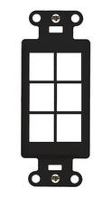 6-Port Decorator Outlet Strap, Black