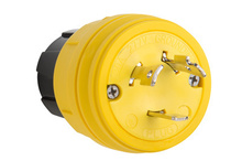 28W49 Watertight NEMA 4X/6P Locking Plug,Yellow