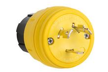28W49 Watertight NEMA 4X/6P Locking Plug,Yellow