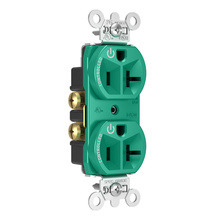 20A, 125V Dual-Controlled Plug Load Controllable Receptacle, Green